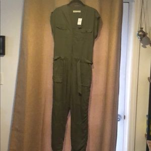 Olive green Abercrombie & Fitch jumpsuit NWT